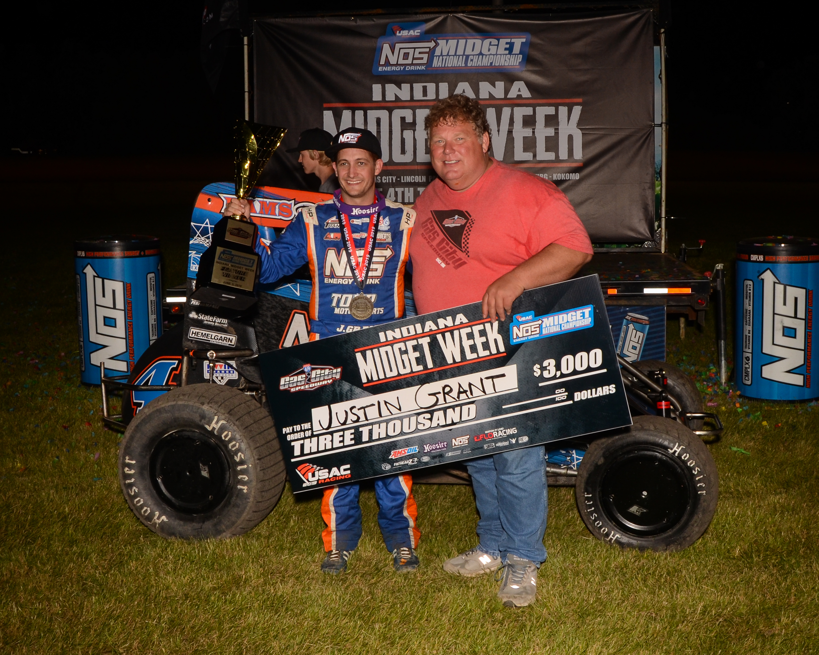 Grant Leads All The Way To Win USAC Indiana Midget Week