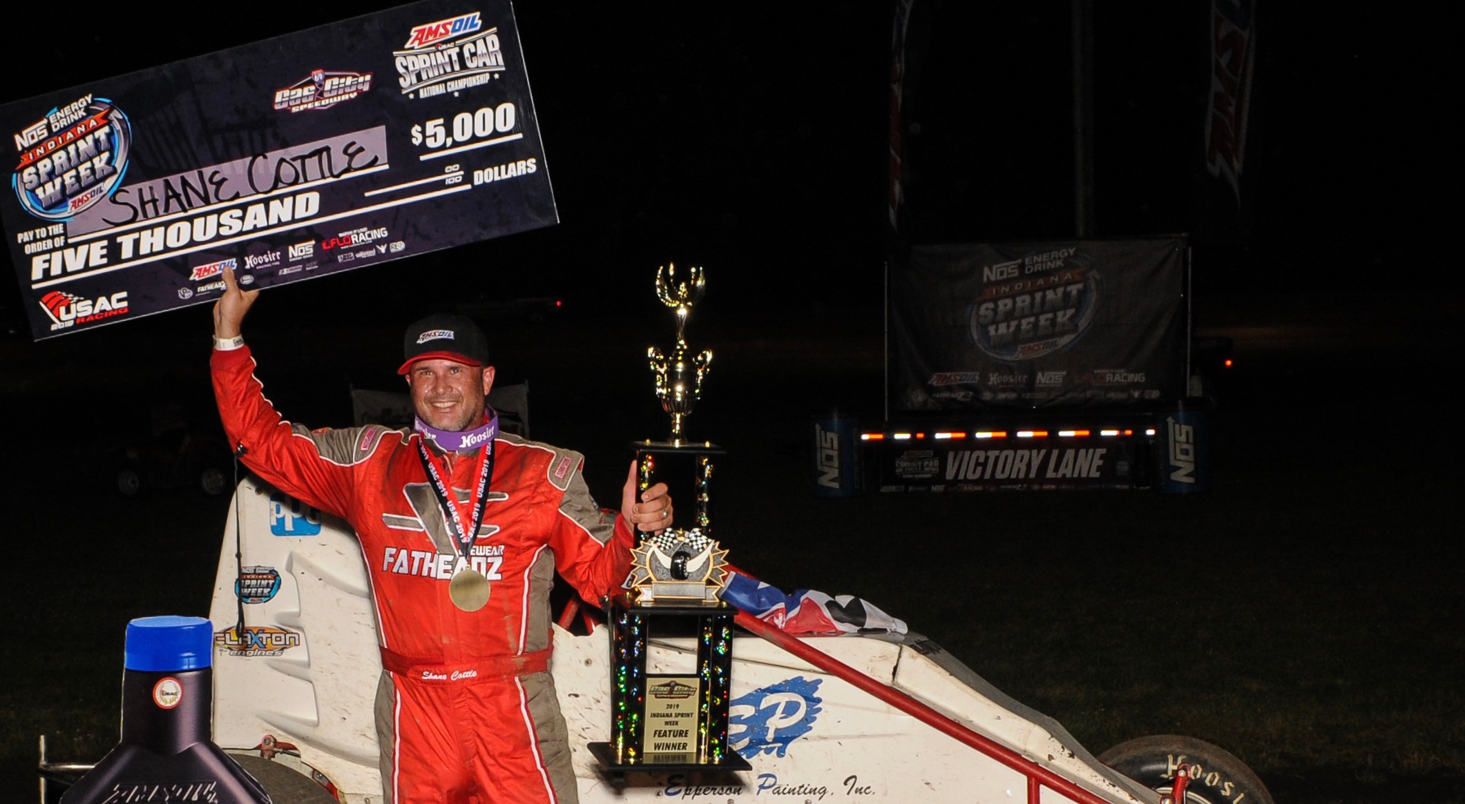 Cottle Wins USAC Indiana Sprint Week Opener By Inches On